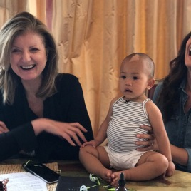 At the table with @ariannahuff, discussing the importance of naptime ...